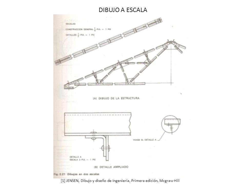 DIBUJO A ESCALA [1] JENSEN, Dibujo y diseño de Ingeniería, Primera edición, Mcgraw Hill